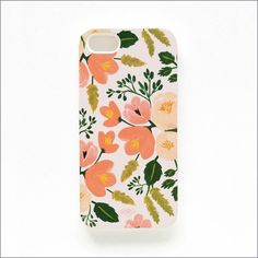 Botanical Rose iPhone 5 Slim Hard Case ($32) ❤ liked on Polyvore featuring accessories and tech accessories