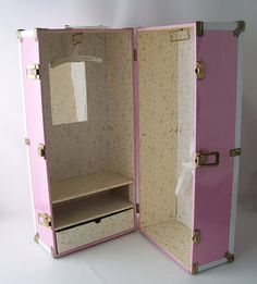 vintage pink doll trunk locker storage dress by RecycleBuyVintage, $40.00