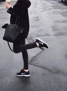 All black + nikes