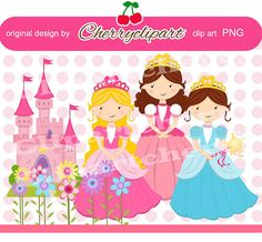 Princess Digital ClipartPersonal and Commercial by Cherryclipart, $3.50