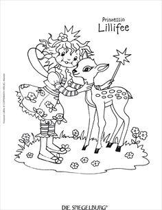 Prinzessin Lillifee Ausmalbilder und Malvorlagen.
