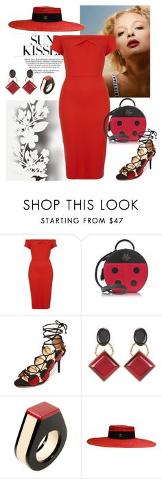 """""""LADY BUG"""" by kmaryk ❤ liked on Polyvore featuring Élitis, Love, Charlotte Olympia, Marni, Gucci and AmiciMei"""