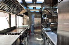 The inside of food trucks do not decor, but they should be kept clean (like a kitchen).