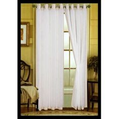 The Veronica Grommet Top curtains panels feature a unique solid col... Window Panels, Window Coverings, Window Treatments, Double Curtains, Drapes Curtains, Veronica, Windows, Bedroom, Unique