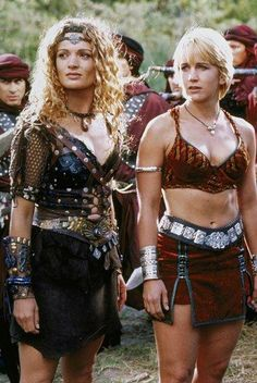 Danielle Cormack as Ephiny, Queen of the Amazons, Renee O'Connor as Gabrielle, Queen of the Amazons