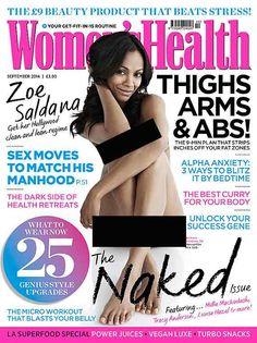 Zoe Saldana poses nude on cover of 'Women's Health' (see pics)