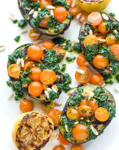 Grilled Avocados with Herbs