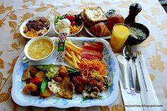 Japanese hotel breakfast.