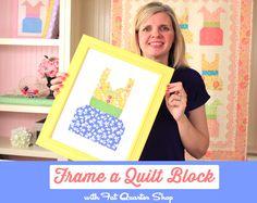 Frame a Quilt Block with Fat Quarter Shop