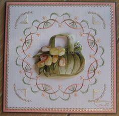 M.K - Bloemenmand Marieke,  borduren stitch en do