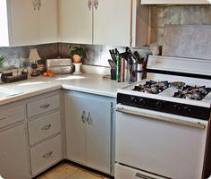 Make a Dollar Store Kitchen Backsplash for about $25