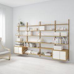 Perfeito para exporem os vossos objetos favoritos (e espaço para organizarem os que não querem que fiquem à vista).