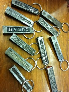 dock 2 letterpress will soon be selling quoin keychains on their etsy site...as seen on their facebook page!