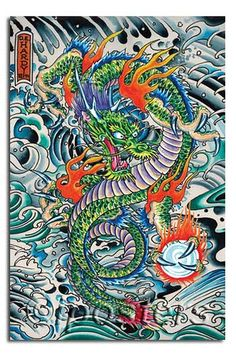 Don Ed Hardy Dragon Tattoo Poster