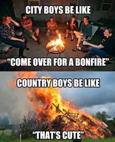 City boys vs country boys meme - http://jokideo.com/city-boys-vs-country-boys-meme/