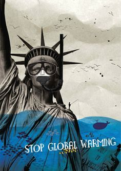 """""""Stop Global Warming"""" poster by Anna Tyrkich"""