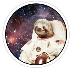 I wanted a sloth in space • Also buy this artwork on stickers, apparel, phone cases, and more.