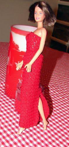 barbie crochet patterns free | Barbie Evening Gown Crochet Pattern - Free Crochet Pattern