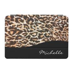 Monogram Leopard Style iPad Mini Case