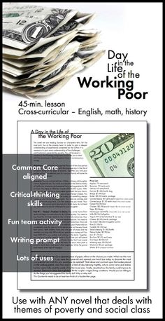 Click here for a compelling Common Core-aligned lesson that works great with any novel or history unit dealing with poverty or social class.