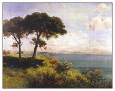 Hoca Ali Rıza Efendi oil painting  landscape Water Marbling, Marble Art, Art School, Istanbul, Ali, Nature, Oil Paintings, House, Fabrics