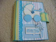 Baby Boy Mini Album - scrapsofpaper