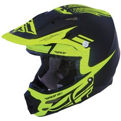 2014 Fly Racing F2 Carbon Dubstep Helmet - Black Hi Viz