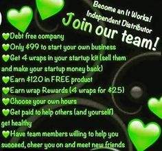 I ALWAYS tell people about ITWORKS because I am so grateful for this company!! It allows me to make money on my own time. It is 100 % legit and I am part of an AMAZING team that has helped me grow and has also shown me amazing products that have changed the way I see myself!!! I helping others whether it is introducing them to a new product or helping them start their own business with this company and SUCCEED!! Message me for more info!