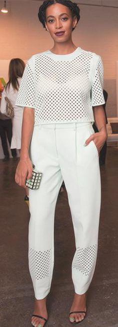 This all white look will never get old. #classic #solange