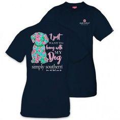 Simply Southern Navy Dog T-Shirt
