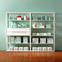 FJÄLKINGE Shelf unit - IKEA the turquoise walls never hurt but I think these are great shelves for my craft room. Nachhaltiges Design, House Design, Interior Design, Office Shelf, Home Office, Ikea Regal, Sustainable Design, Ikea Hack, Interior Inspiration