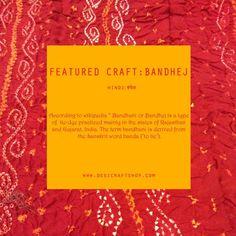 Featured Craft   Bandhani Of Rajasthan – DesiCrafts