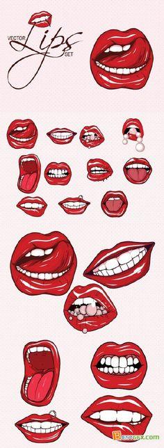 lip bite drawing - Google Search