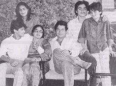 A young Salman Khan with his family