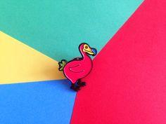 Enamel Pin Badge, Dodo Bird Pin, Soft Enamel Pin, Lapel Pin, Animal Pin, Cute Pin, Pin Game, Colorful Rainbow Pin, Fun Pin Badge Bird Brooch