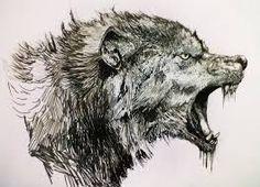 """Résultat de recherche d'images pour """"loup profil dessin"""""""