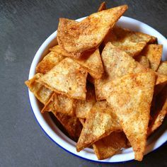 Baked Corn Tortilla Chips - Just 20 minutes to delicious, crunchy and healthy snacking.