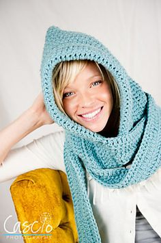 Ravelry: Hooded Scarf Pattern pattern by Sweet Kiwi Crochet Kandice Oster