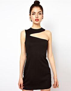 ASOS Fashion Finder | Aqua Gosling Mini Bodycon Dress with Slash Neck