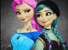 LOVE THIS. Frozen Disney punk edit :D