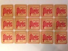50 Piels Light Lager Beer Coasters  NOS New Old Stock 1965 FIFTY YEARS OLD!!! #Piels