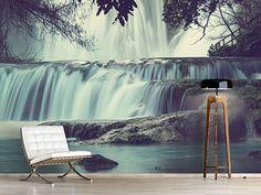 Raumansicht Wohnzimmer Fototapete Wasserfall Mexiko