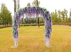 Wedding arch with artificial flowers