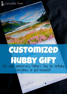 Syncopated Mama: Customized Hubby Gift (For your anniversary, Father's Day, his birthday, Christmas, or just because!) with 52 Frugal Date Ideas Fathers Day Art, Fathers Day Crafts, Diy Gifts, Handmade Gifts, Gifts For Hubby, Thank You Teacher Gifts, Gifts Under 10, A Day To Remember, Inexpensive Gift