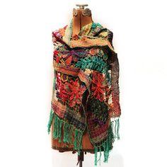 Crochet Netting Scarf I multi, karma living, women's scarves