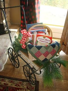 Fill a basket with Christmas books and place in your family room.