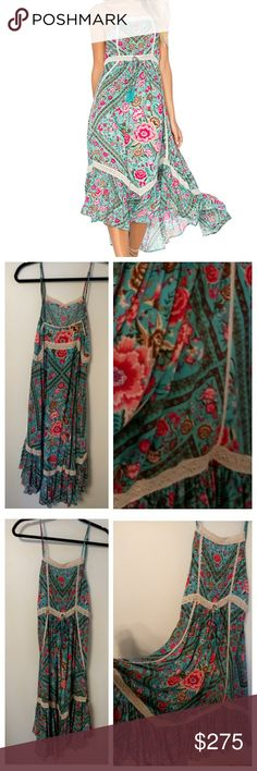 Turquoise Babushka Midi Gorgeous bright and beautiful.  In great condition.  Need a kombi sage gown xs instead!  😘 Will sell or swap. Spell & The Gypsy Collective Dresses