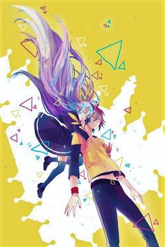 Shiro and Sora - No Game No Life