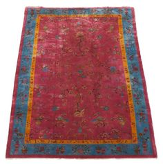 Hand Woven Art Deco Chinese Rug 9' x 12' : Lot 42. Estimated $1,000-$2,000