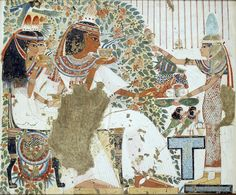 Madame de Pompadour (Murals from the tomb of Nebamun, chief physician...)